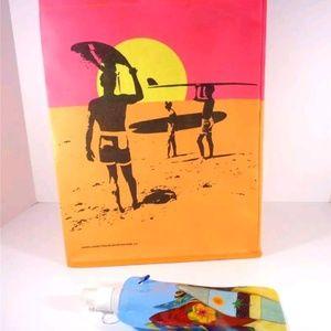 Handbags - NAUTICAL ENDLESS SUMMER BEACH BAG TOTE AND BOTTLE